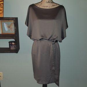 New Kenneth Cole Satin Dorman Sleeve Dress